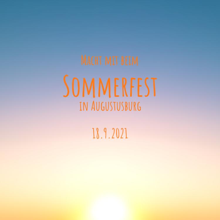 Einladung und Aufruf zum Sommerfest